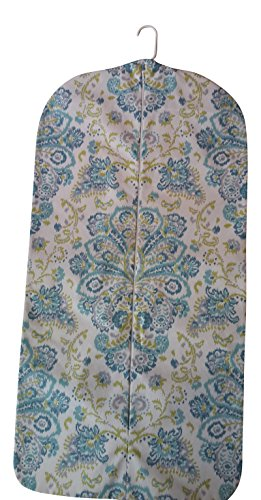 Carry It Well Women'S Hanging Garment Bag Turquoise And Green Medallion