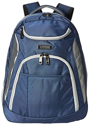 "Kenneth Cole Reaction Pack Be Nimble 1680d Polyester Dual Compartment 17"" Laptop Backpack, Blue"