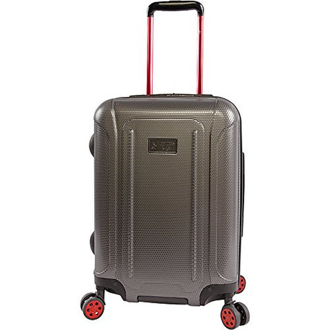 "Original Penguin Crest 21"" Hardside Carry-On Spinner Luggage, Charcoal"