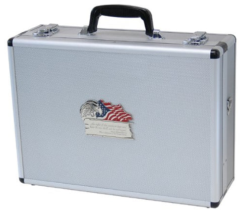 T.Z. Case International 2Nd Amendment 4-8 Pistol Promo Case, Silver, 18-Inch