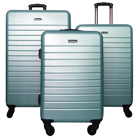 3 PC Luggage Set Durable Lightweight Spinner Suitecase LUG3 SK0040 SAGE