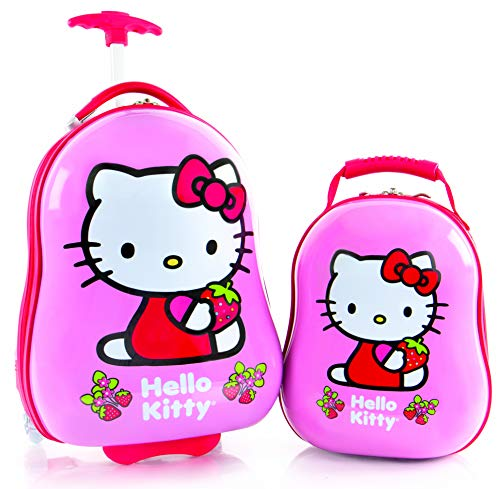 "Heys America Hello Kitty Kids 2 Pc Luggage Set -18"" Carry On Luggage & 12"" Backpack"