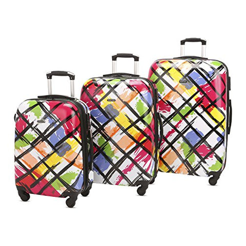 3 Piece Luggage Set Durable Lightweight Hard Case Pinner Suitecase 20In24In28In Lug3 Pc18 Color