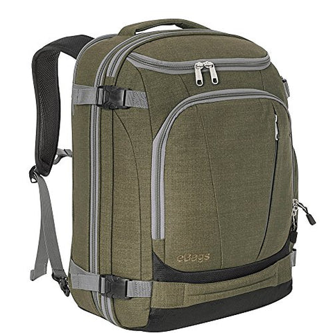"eBags TLS Mother Lode Weekender Junior 19"" Carry-On Travel Backpack - Fits Up to 17.5"" Laptop - (Sage Green)"