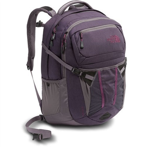 The North Face Women's Recon Backpack - Dark Eggplant Purple Dark Heather / Rabbit Grey