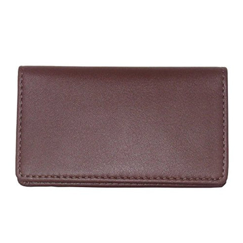 Royce Leather Business Card Case (Burgundy)