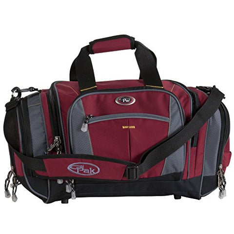 CALPAK Silver Lake Solid 22-inch Carry-on Duffel Bag, Deep Red, One Size