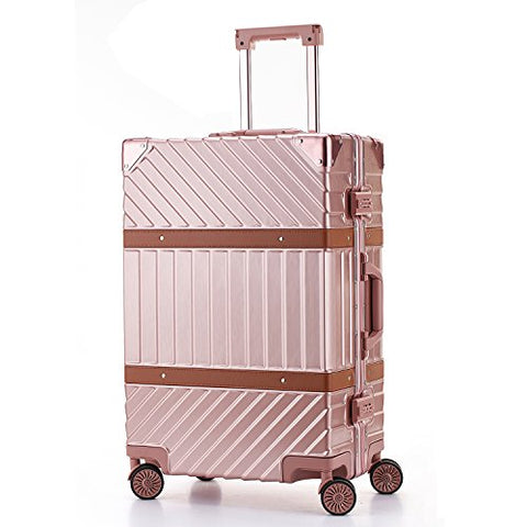 Unitravel Aluminum Hardside Luggage Vintage Travel Suitcase Spinner Wheels Tsa