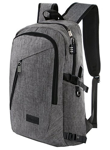 Business Laptop Backpack, Slim Anti Theft Computer Bag, Water-Resistent College School Backpack,
