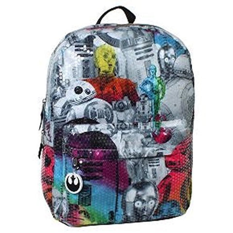 "Star Wars 16"" Sequined Kids Backpack - Rainbow"