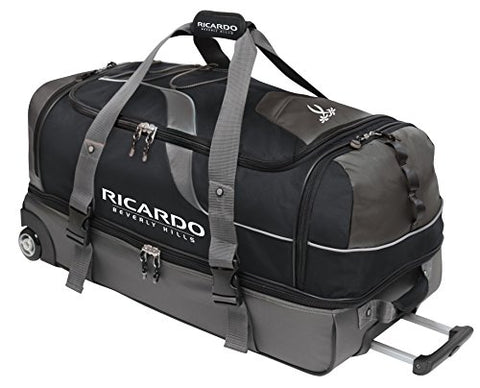 Ricardo Beverly Hills Essentials 30-Inch 2 Wheel Drop Bottom Duffel, Black, One Size