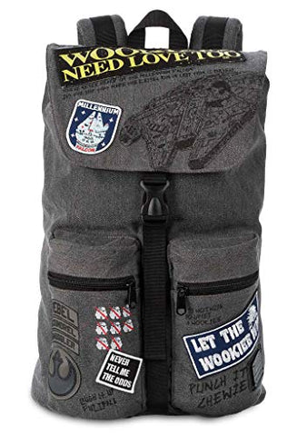 Loungefly Star Wars Wookie Patch Backpack Grey