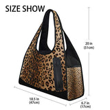 Gym Bag Brown Leopard Women Yoga Canvas Duffel Bag Sports Tote Bags for Girls