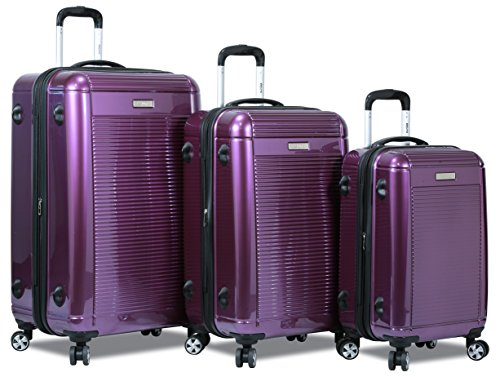 "Dejuno 3 Pcs Set Polycarbonate Expandable Luggage Spinner Suitcase with TSA Lock, 28"", 24"" & 20"""