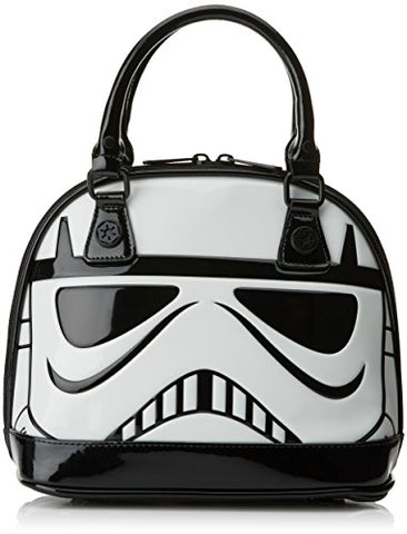 Loungefly x Star Wars Stormtrooper Patent Mini Dome Bag, Black/White