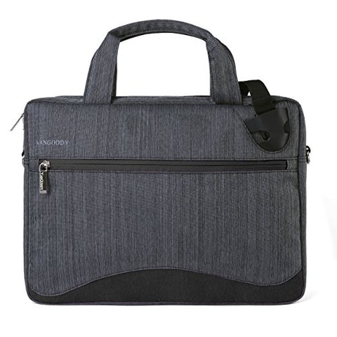 VanGoddy Wave Briefcase/Messenger Bag for Dell 14 to 15.6-inch Laptops (Black)