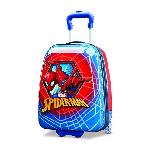 American Tourister Kids' Spiderman Hardside Upright 18, Red/Blue