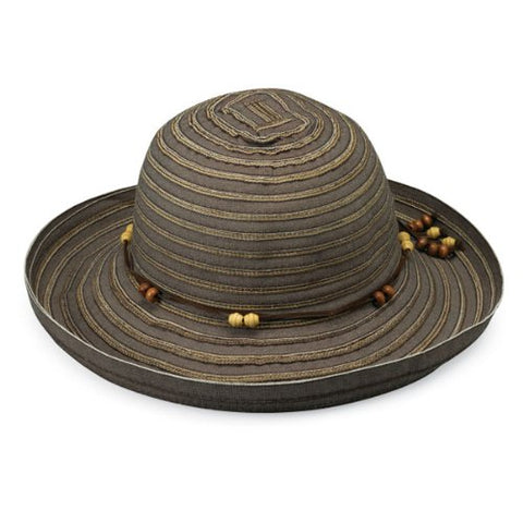Wallaroo Women'S Breton Sun Hat - Upf 50+ - Packable, Chocolate