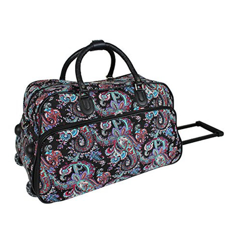 World Traveler 21-Inch Carry-On Rolling Duffel Bag, Paisley, One Size