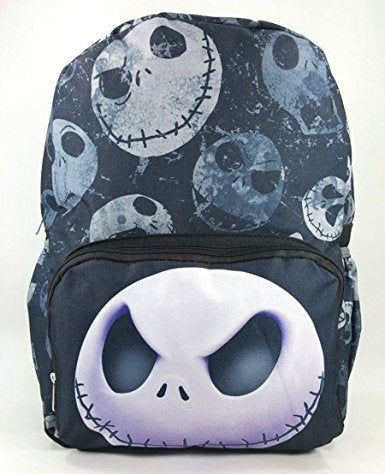 "NIGHTMARE BEFORE CHRISTMAS LARGE 16"" BACKPACK - BIG FACE - 12464"