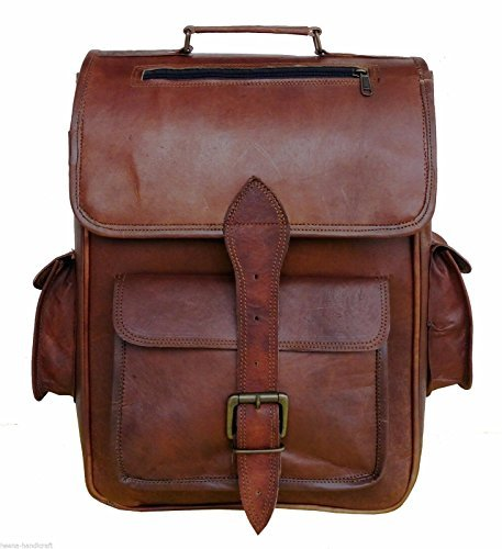 Leather Backpack Rucksack Vintage Bag Leather Handmade Vintage Style College Bag