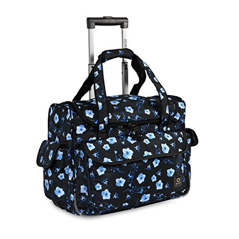 J World New York Kids' Donna Rolling Tote Travel, Night Bloom One Size