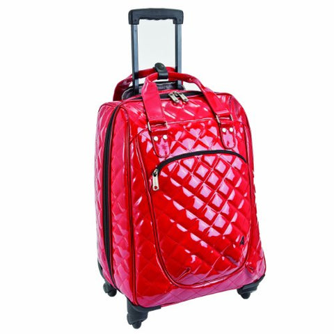 Athalon Luggage Spinner Wheels Construction Eurostyle Carryon, Patent Cherry, One Size