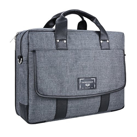 Vangoddy Chrono Grey Carrying Tote Crossbody Shoulder Bag For Dell Alienware 15 | Inspiron 15
