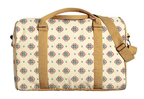 Aztec Seamless Watercolor Pattern-1 Printed Canvas Duffle Travel Bag Was_42