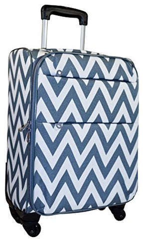 Ever Moda Chevron 360 Spinner Luggage Carry On