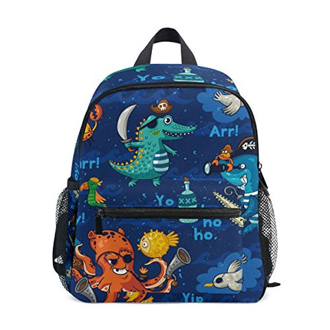 ColourLife Kids Preschool Book bag Underwater Pirates Backpack School Bag for Girls Boys