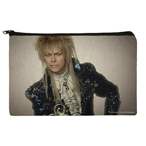 David Bowie As Jareth From The Labyrinth Makeup Cosmetic Bag Organizer Pouch