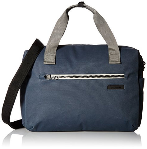 Pacsafe Intasafe Anti-Theft 15 inch Laptop Shoulder Bag / Briefcase, Navy Blue