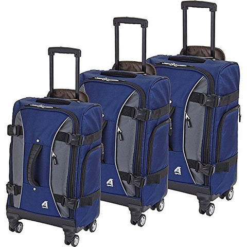 Athalon Hybrid Spinners Luggage 3 Pc Set Navy, Gray