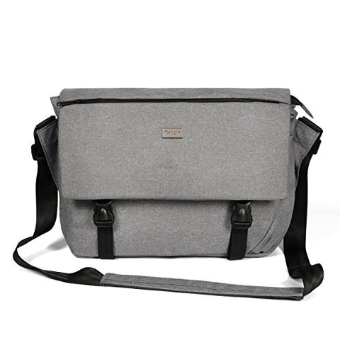 Thikin Classic Sturdy Lightweight Casual Daily 14-Inch Laptop Messenger Bag For Women And Men