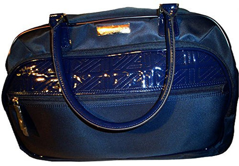 "Anne Klein Women's 20"" Wheeled Duffle Quilted Detail Luggage Carry-On, Navy"