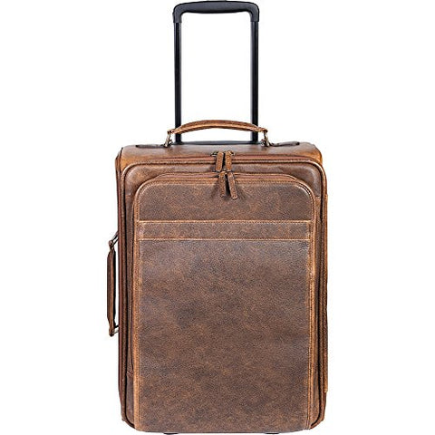 Scully 81St Aero Squadron Wheeled Carry-On Travel Bag (Antique Brown)