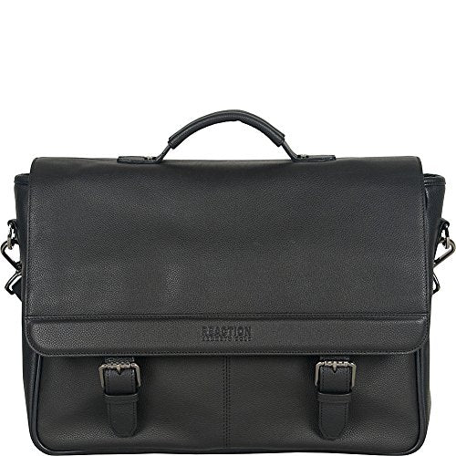 "Kenneth Cole Reaction Leather Single Compartment Flapover 15.0"" Computer Business Case Laptop"