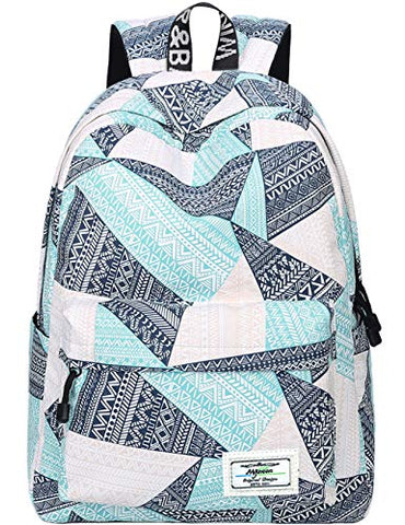 Backpack for Teens, Fashion Geometric Pattern Laptop Backpack College Bags Women Shoulder Bag