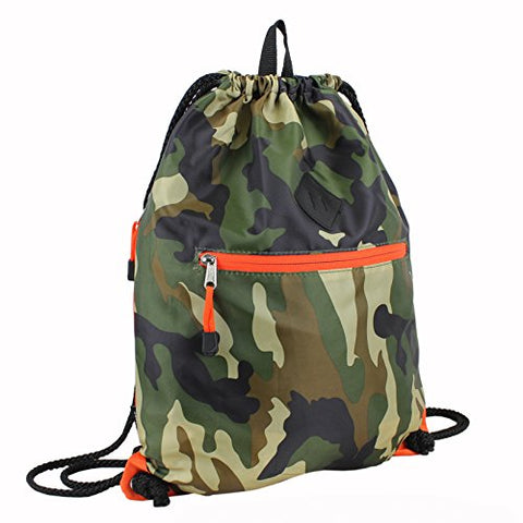 Eastsport Drawstring Sackpack Sling Backpack, Army Camo
