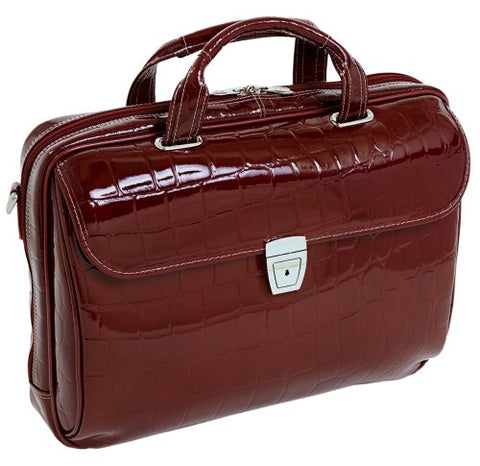 Siamod Settembre 35526 Cherry Red Leather Medium Ladies' Laptop Brief