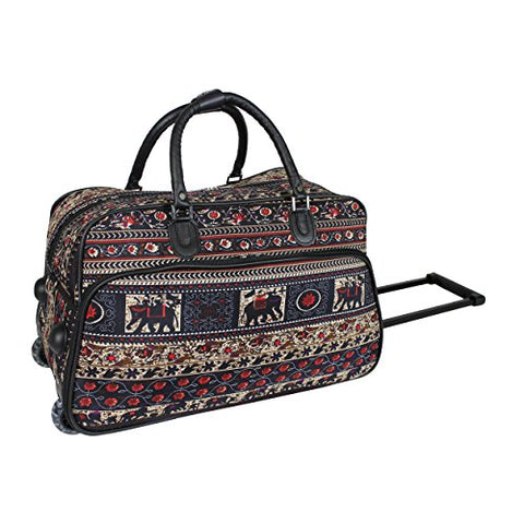 World Traveler 21-Inch Carry-On Rolling Duffel Bag, Elephant, One Size