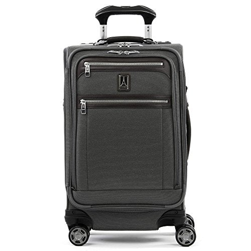 "Travelpro Luggage Platinum Elite 21"" Carry-On Expandable Spinner With Usb Port, Vintage Grey"