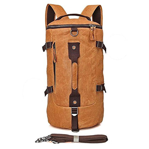 Clean Vintage Backpack Messenger Duffle Travel Hiking Camping Gym Sport Bag Real Leather