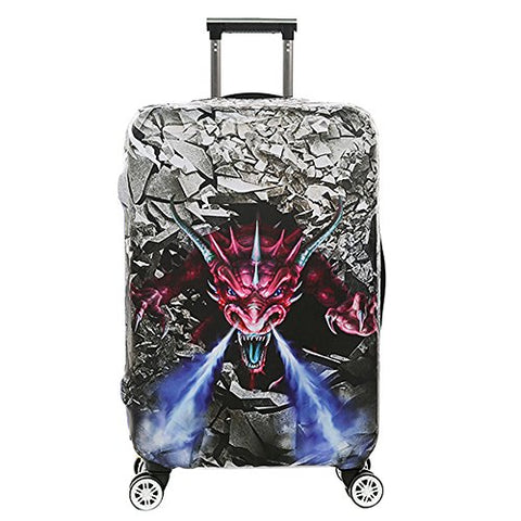 Luggage Cover Protective Sinokal 3D Suitcase Protector Covers With Zipper For Travel 20 24 26 28 29