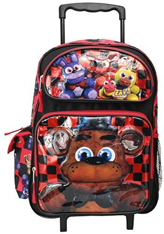 "Five Nights at Freddys Bonnie Foxy Chica Large 16"" Rollling Backpack"