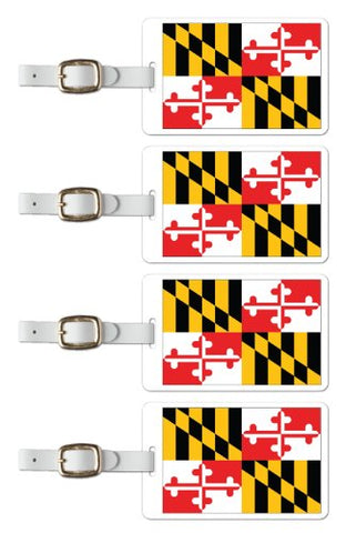 Tag Crazy Maryland Premium Luggage Tags Set Of Four, Red, One Size