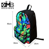 CrazyTravel Cotton Canvas Shoulder Rucksack Backpack Bookbag for Children Adults