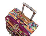 "Lily Bloom Luggage 24"" Expandable Design Pattern Suitcase With Spinner Wheels For Woman (24in, Origami)"
