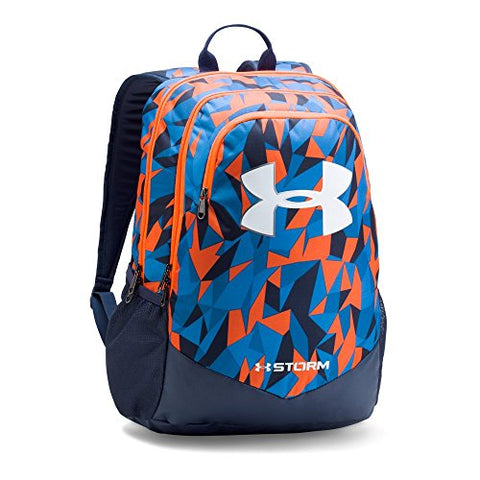Under Armour Boys' Storm Scrimmage Backpack, Mako Blue/Midnight Navy, One Size